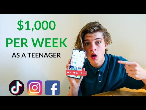 How to Start a Business as a Teenager FOR FREE! // (2021) How to Make Money As A Teenager Online! [Video]