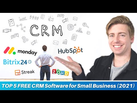 TOP 5 FREE CRM Software for Small Business | BEST CRM software [2021] [Video]