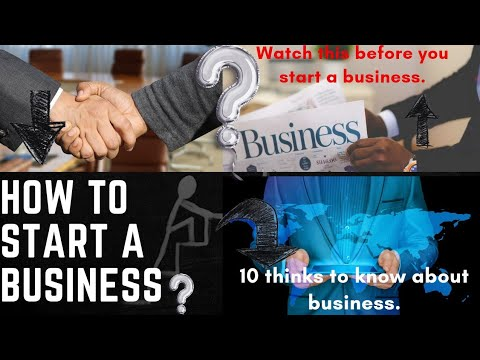 how to start a business.(10 thinks to know before starting a business).Best business ideas💵💸 [Video]