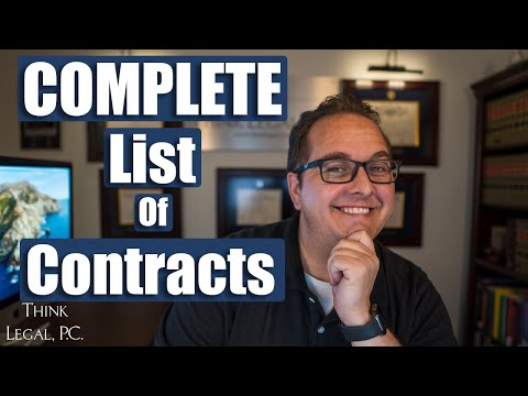 The COMPLETE list of Contracts You Need to Start a Business   Kinds of Contracts   Formal Contracts [Video]