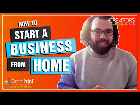 How to start a business from home on your own! [Video]
