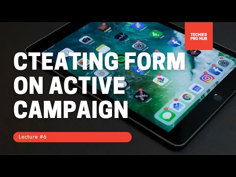 How to create Form on active campaign for email marketing [Video]