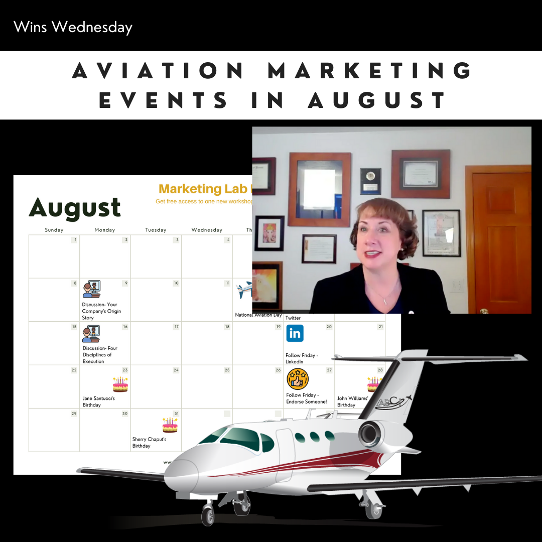 Aviation Marketing Events for August 2021 [Video]
