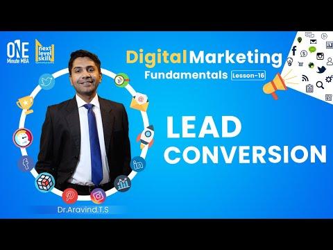 Lesson 16 | Lead Conversion | Digital Marketing Fundamentals | Dr Aravind TS [Video]