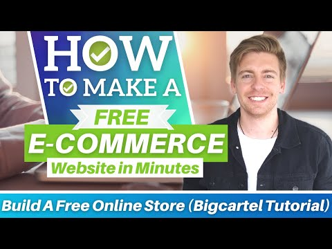 How To Make An E commerce Website for FREE in Minutes (Big Cartel Tutorial) [Video]