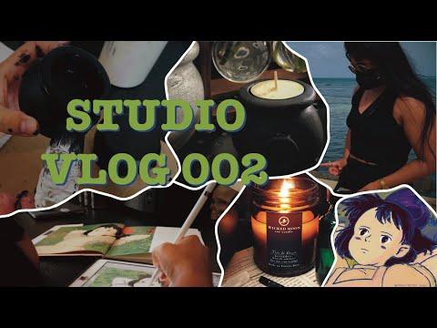 STUDIO VLOG 002⚡️Honest Chat: Starting a Business, Drawing Ghibli's Kiki, Making Cauldron Candles [Video]