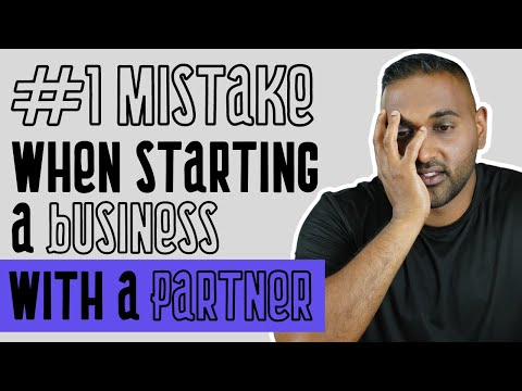 #1 Mistake Made When Starting a Business with a Partner [Video]